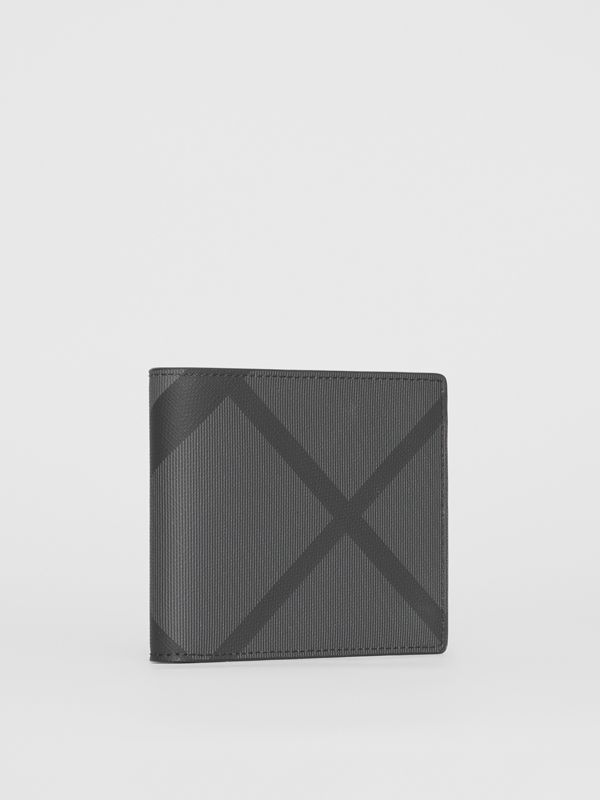 London Check ID Wallet in Charcoal/black - Men | Burberry Canada - cell image 3