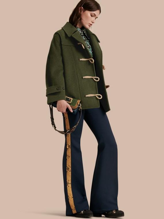 Military Wool Duffle Coat