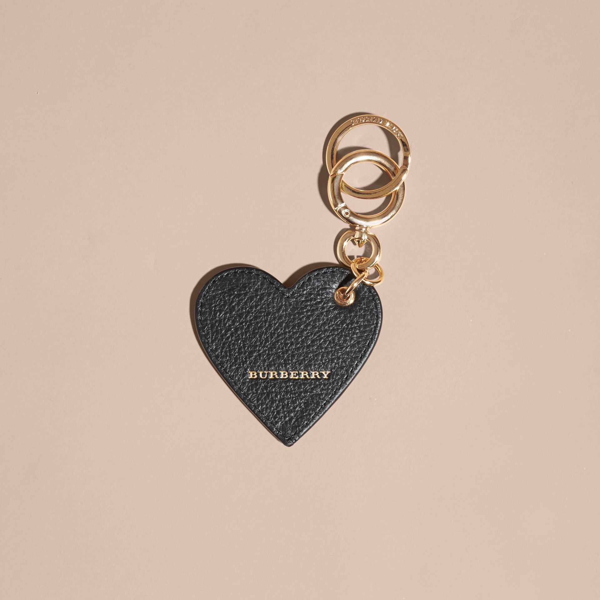 Sequinned Heart Key Charm in White/black - gallery image 3