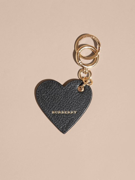 Sequinned Heart Key Charm in White/black - cell image 2