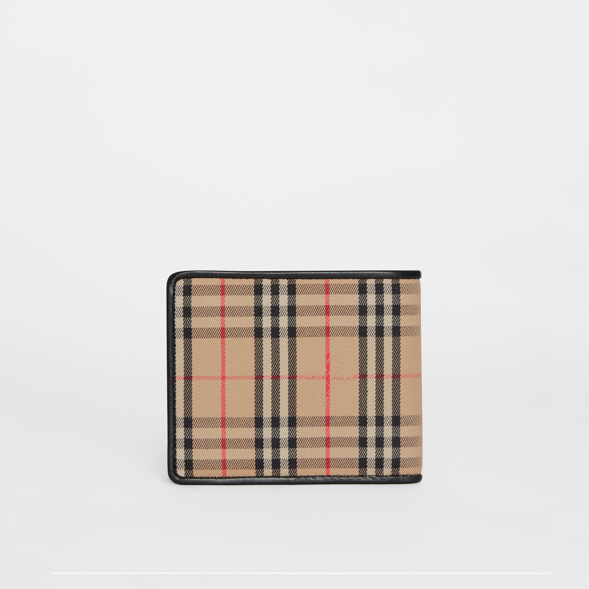 1983 Check and Leather International Bifold Wallet in Black - Men | Burberry Australia - gallery image 5