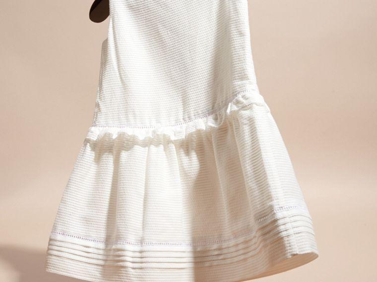 White Lace Bib Cotton Silk Sleeveless Dress - cell image 2