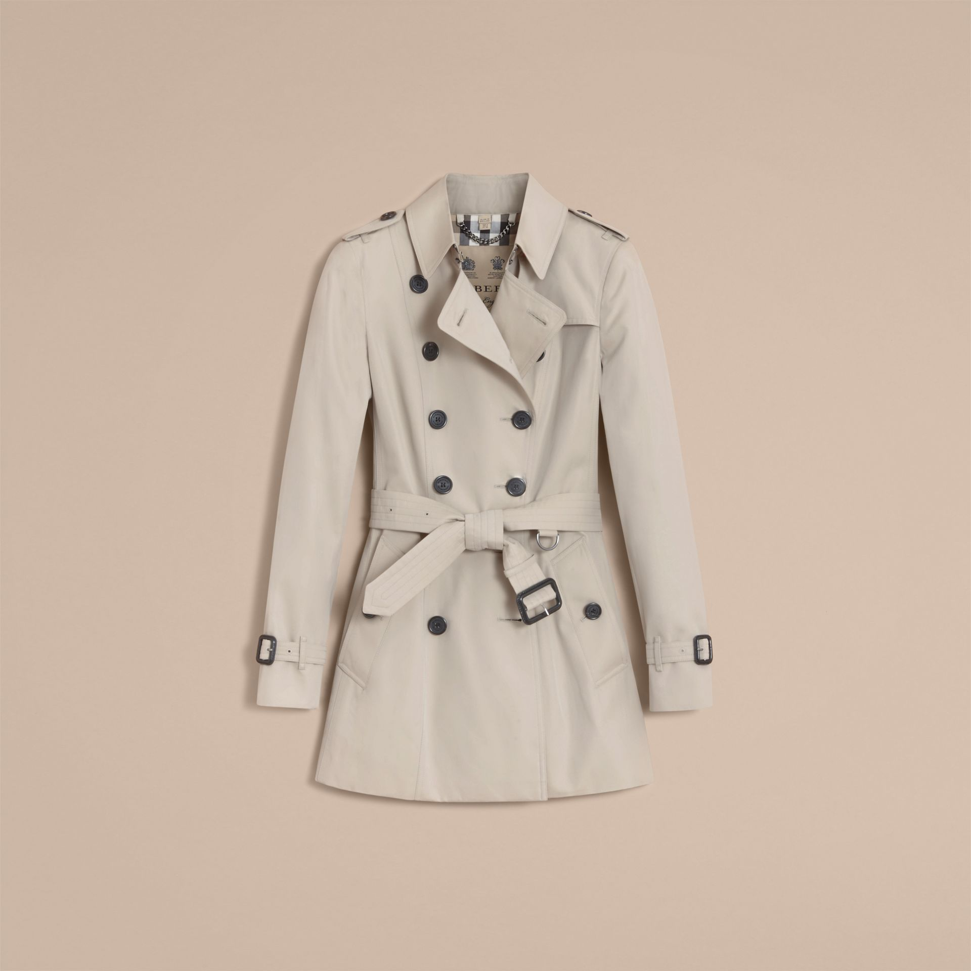 Stone The Chelsea – Short Heritage Trench Coat Stone - gallery image 5