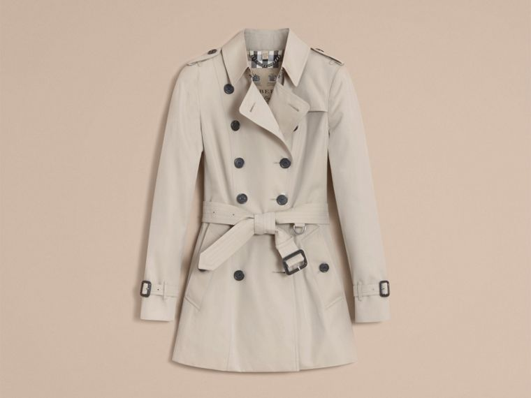 Stone The Chelsea – Short Heritage Trench Coat Stone - cell image 4