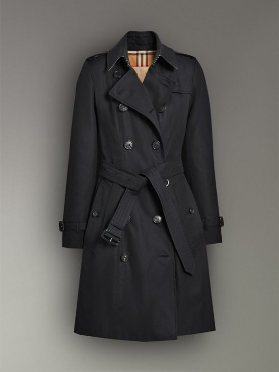 The Chelsea Heritage Trench Coat in Midnight - Women | Burberry Hong Kong - cell image 3