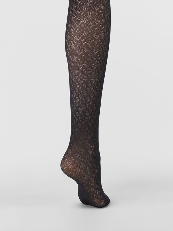 Collants Monogram (Noir) - Femme | Burberry Canada - cell image 2