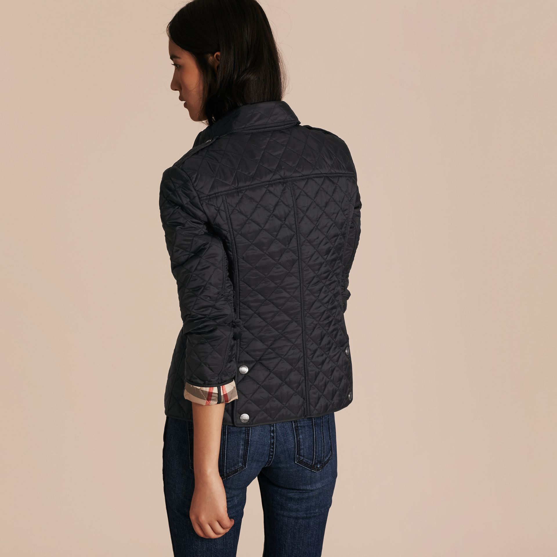 Black Diamond Quilted Jacket Black - gallery image 3