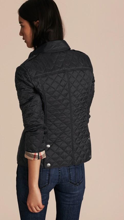 Black Diamond Quilted Jacket Black - Image 3