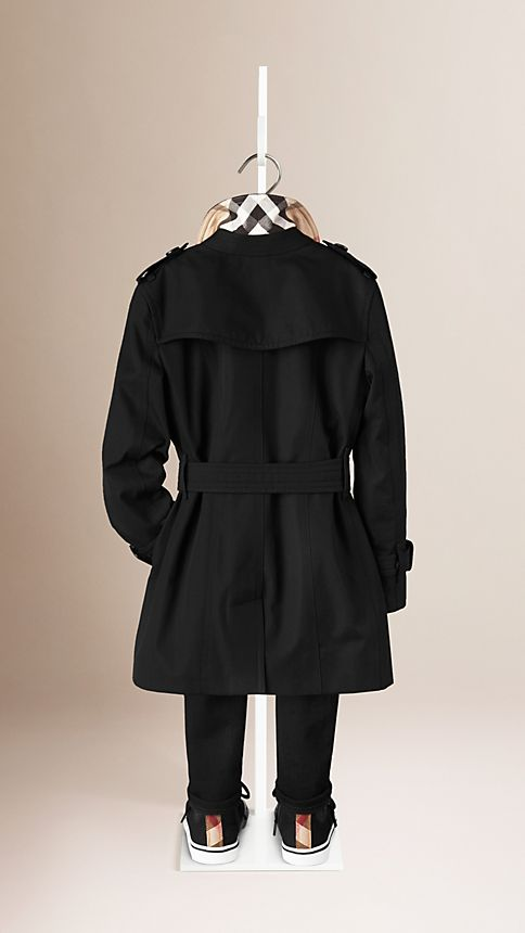 Black The Sandringham - Heritage Trench Coat - Image 2
