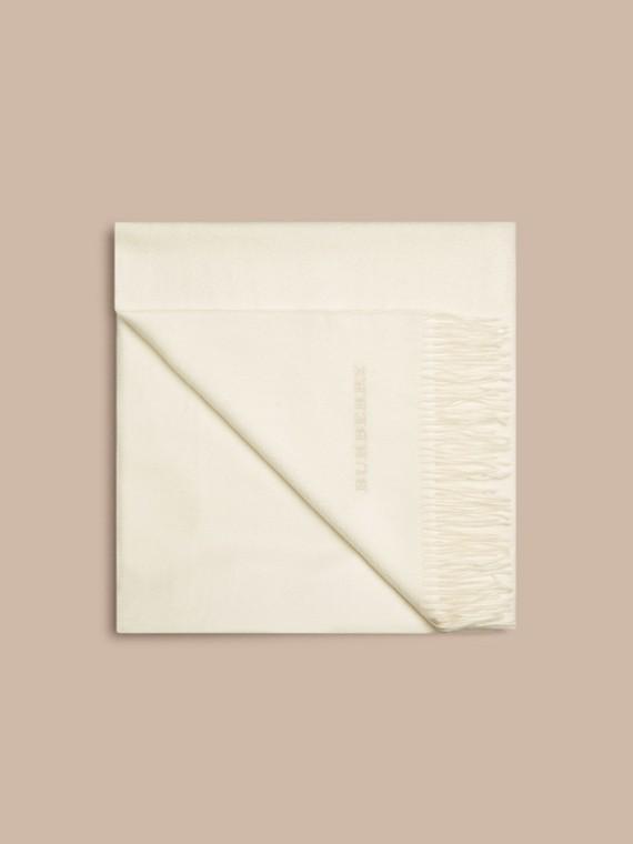 Blanc naturel Couverture en cachemire Blanc Naturel - cell image 3