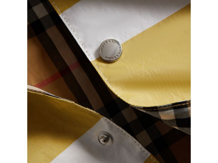 Reversible Stripe and Vintage Check Cotton Jacket in Larch Yellow/whte - Boy | Burberry - cell image 1