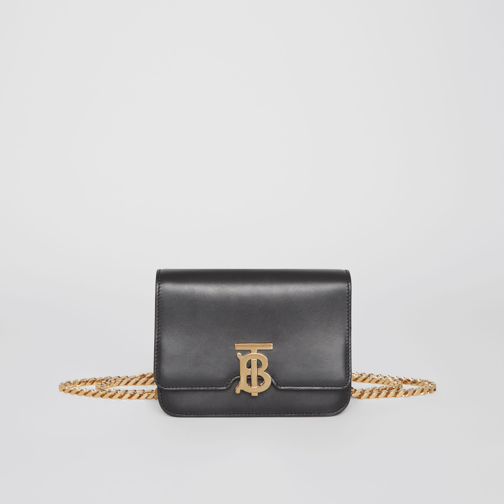 Belted Leather TB Bag in Black - Women | Burberry Hong Kong - gallery image 0
