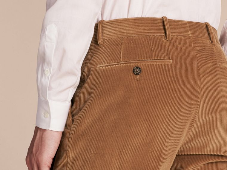 Camel Slim Fit Cotton Corduroy Trousers Camel - cell image 4