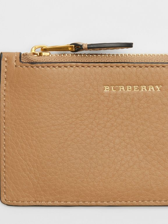 Two-tone Leather Card Case in Light Camel - Women | Burberry United Kingdom - cell image 1
