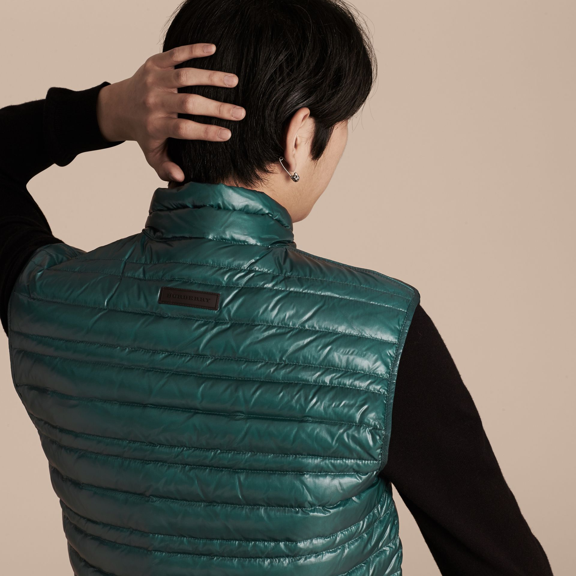 Pine green Lightweight Down-filled Gilet Pine Green - gallery image 5