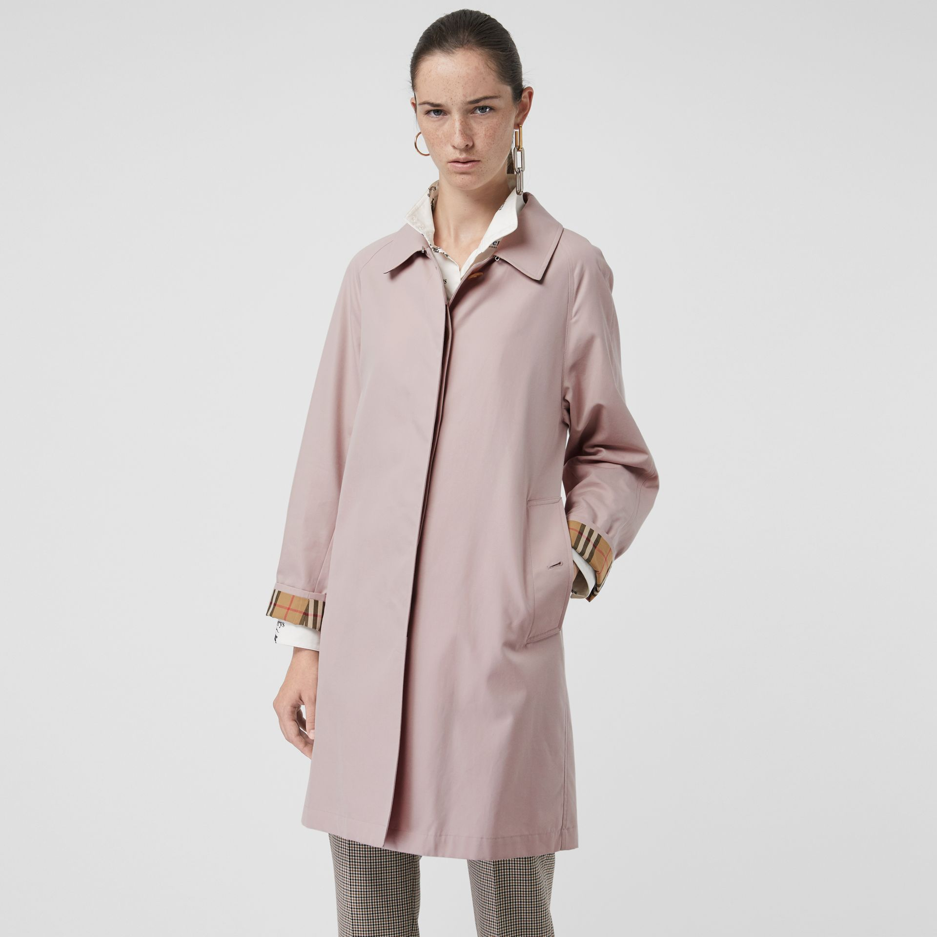 The Camden Car Coat in Ice Pink - Women | Burberry United Kingdom - gallery image 6