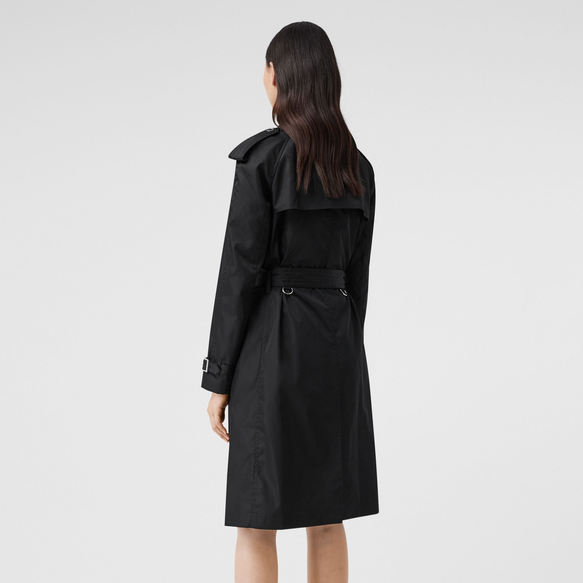 Press-stud Detail ECONYL® Trench Coat in Black - Women | Burberry Canada - gallery image 2