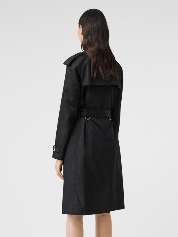 Press-stud Detail ECONYL® Trench Coat in Black - Women | Burberry Canada - cell image 2