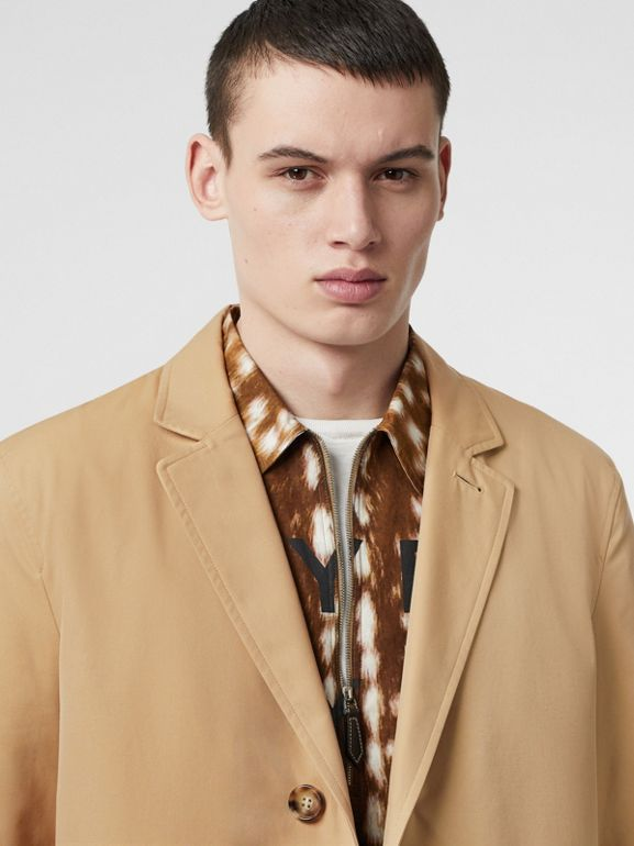 Cotton Gabardine Car Coat in Honey - Men | Burberry Hong Kong - cell image 1