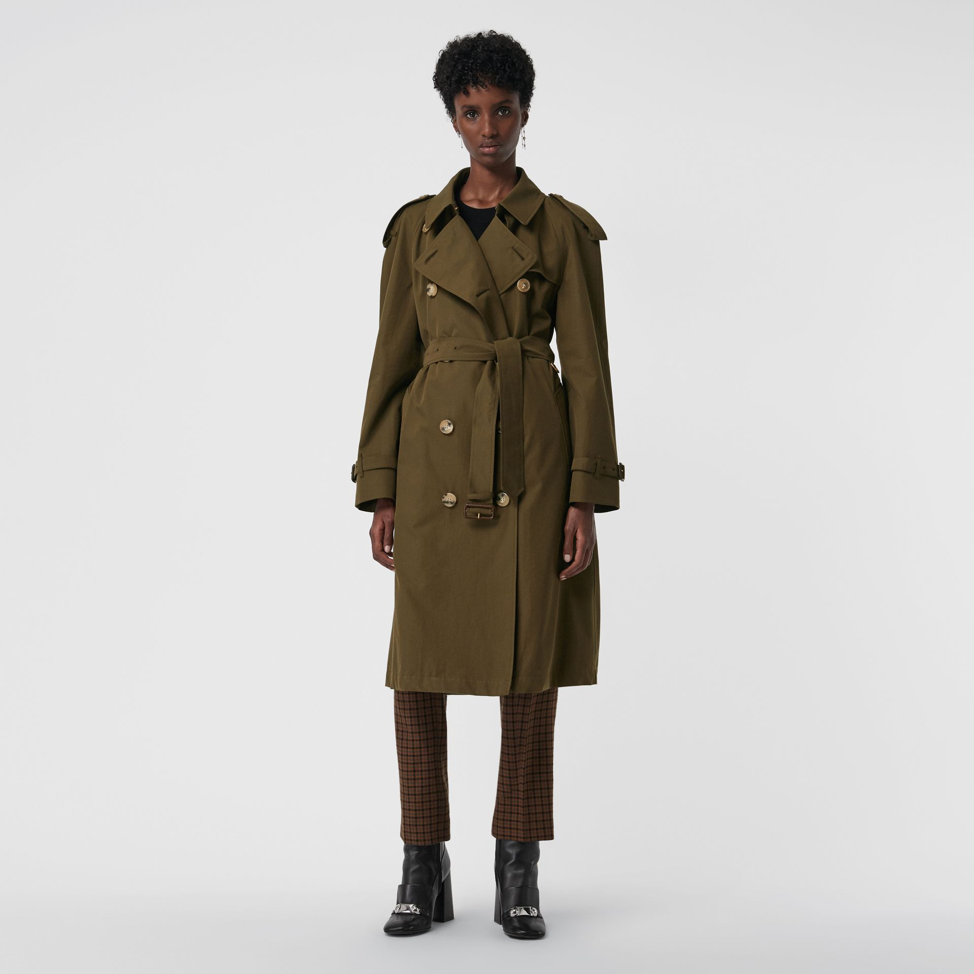 The Westminster Heritage Trench Coat in Dark Military Khaki - Women | Burberry Singapore - gallery image 0