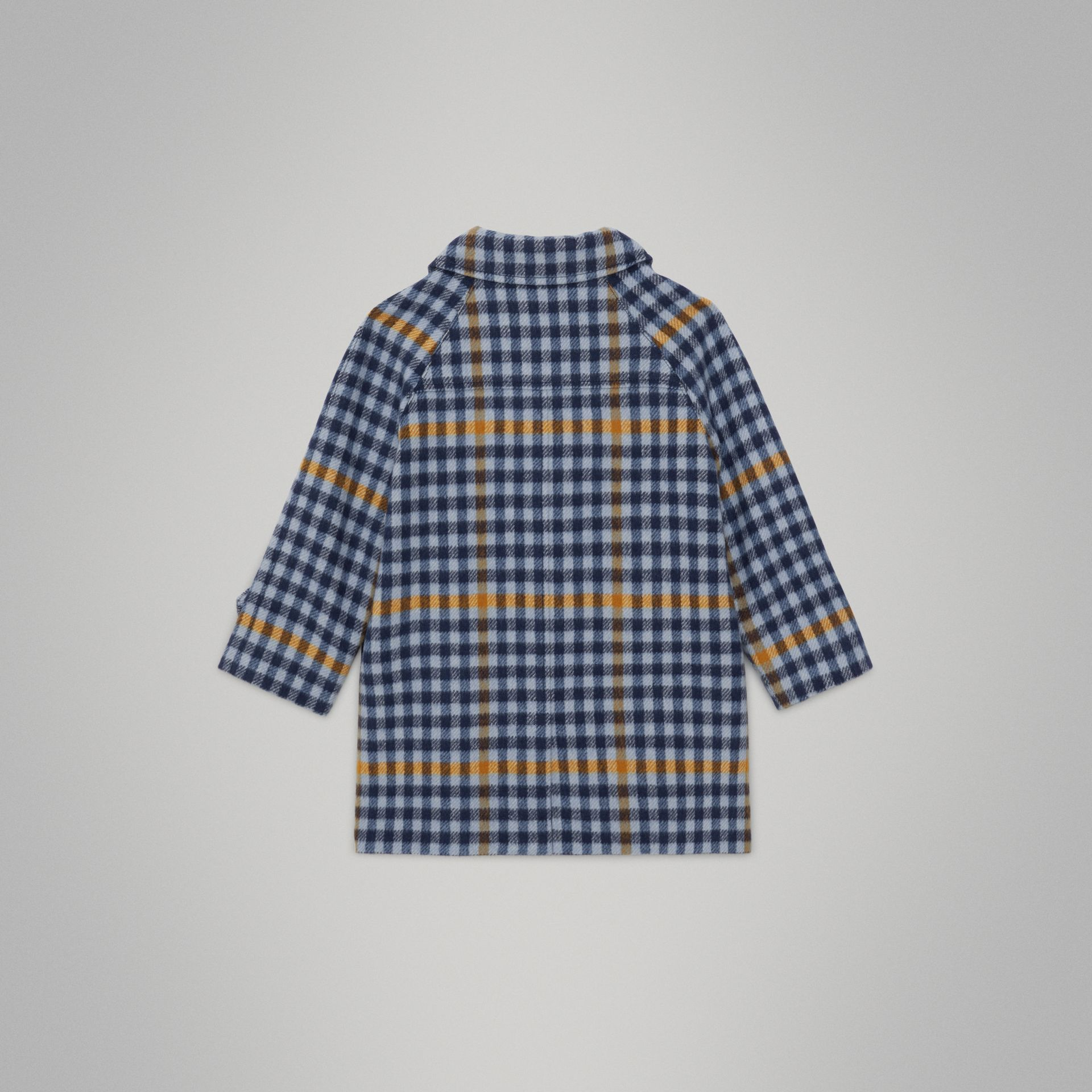 Check Wool Car Coat in Canvas Blue - Children | Burberry United Kingdom - gallery image 4