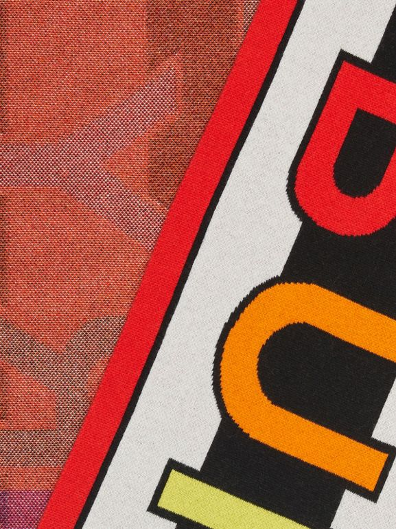 Logo Cashmere Jacquard Scarf in Multicolour | Burberry United States - cell image 1