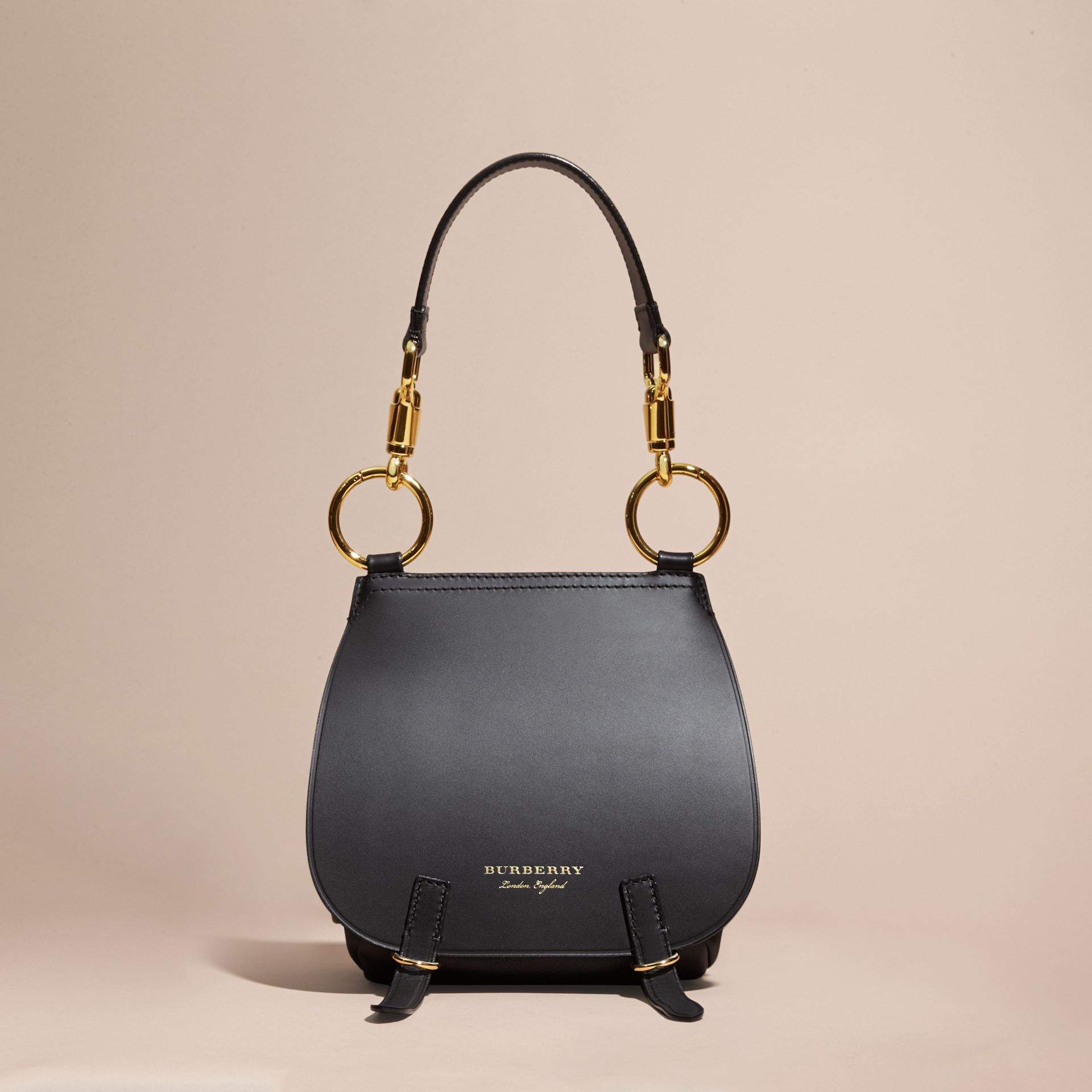 The Bridle Bag in Leather in Black - Women | Burberry Singapore - gallery image 7