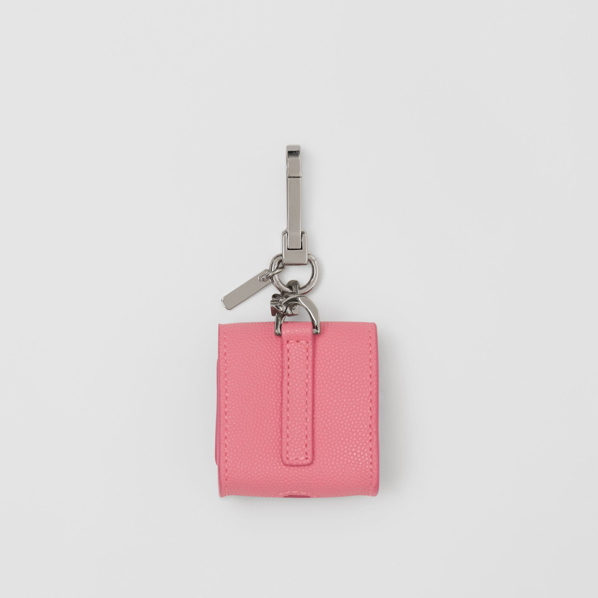 Grainy Leather AirPods Case in Candy Floss - Women   Burberry Canada - gallery image 2
