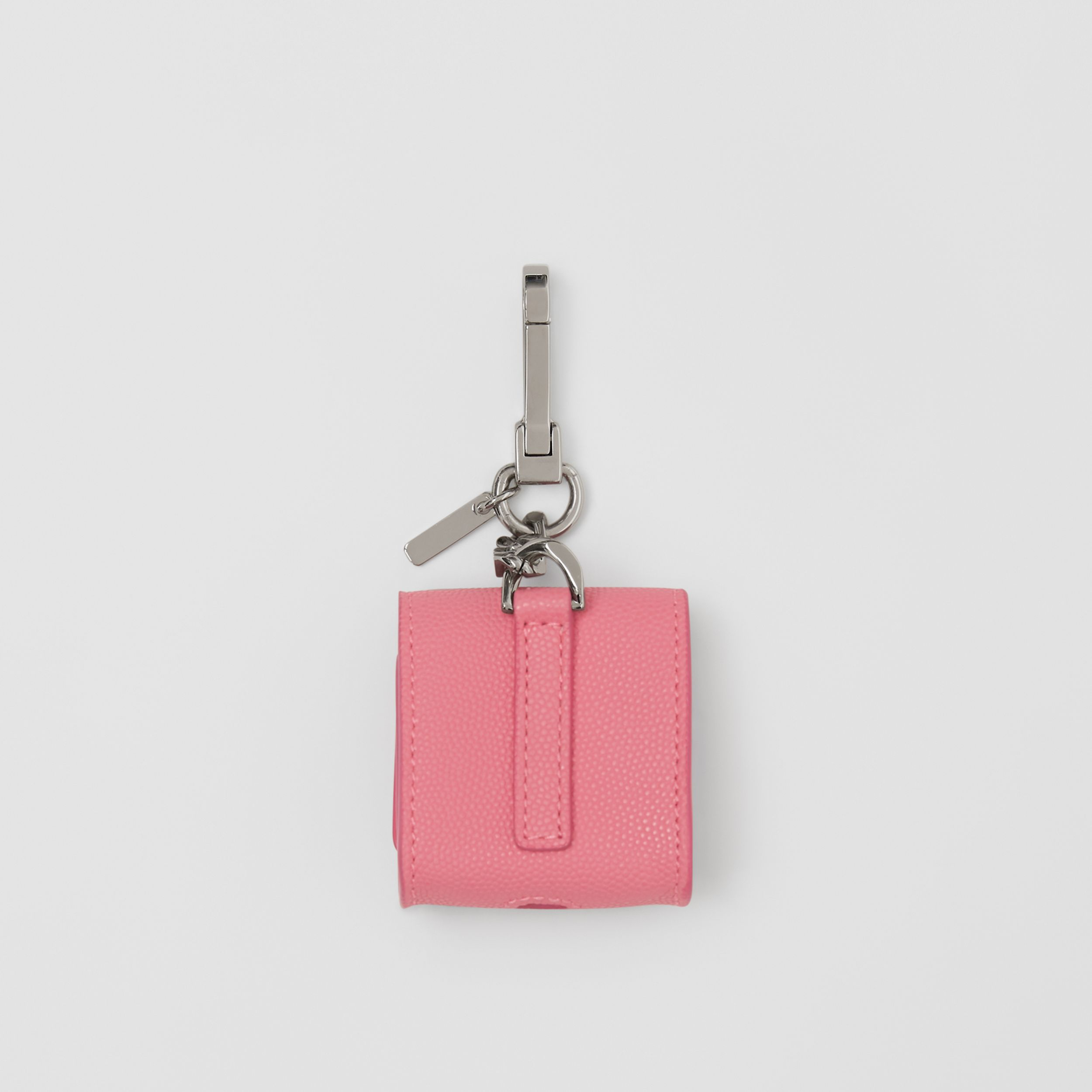 Grainy Leather AirPods Case in Candy Floss | Burberry United Kingdom - 3
