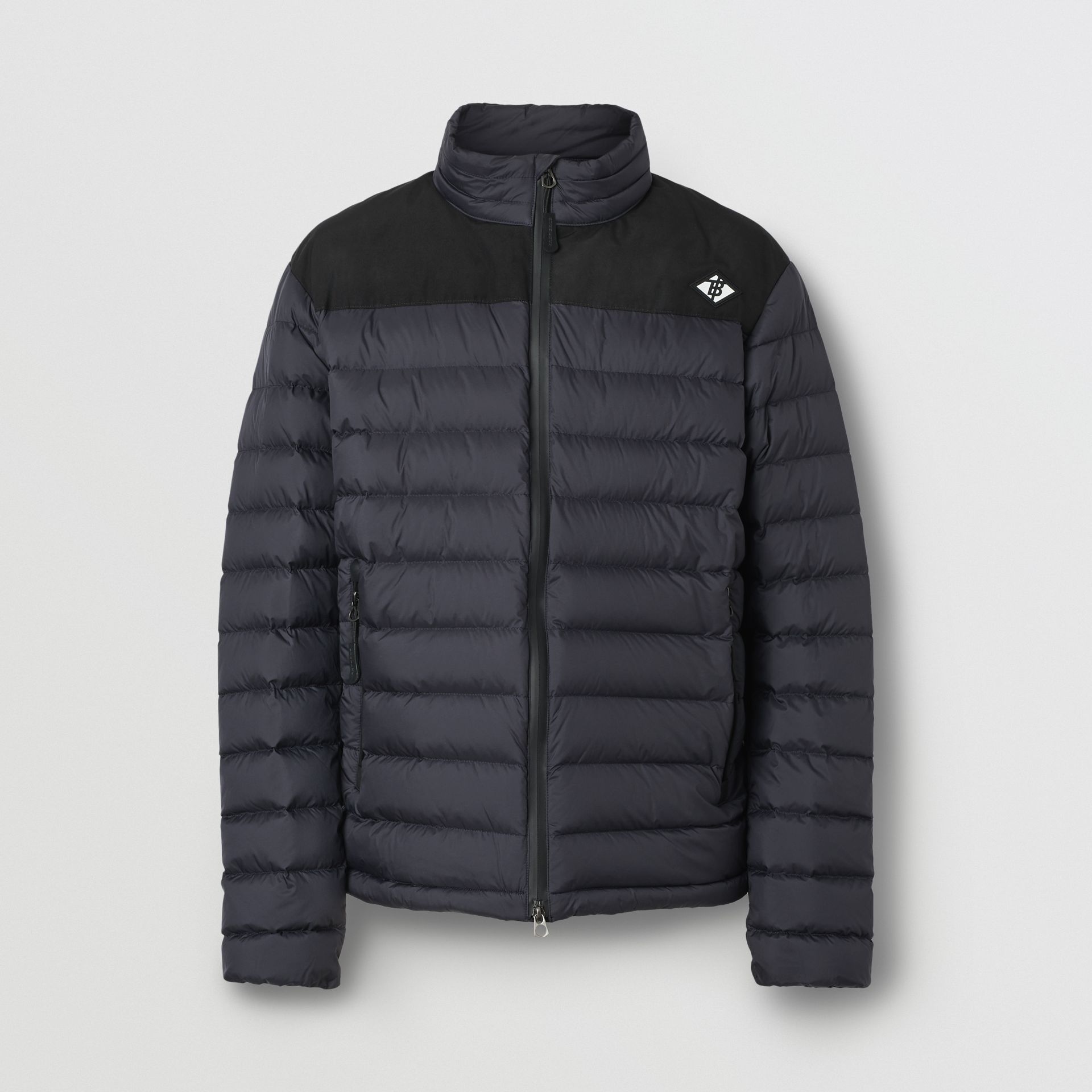 Logo Graphic Lightweight Puffer Jacket in Navy - Men | Burberry - gallery image 3