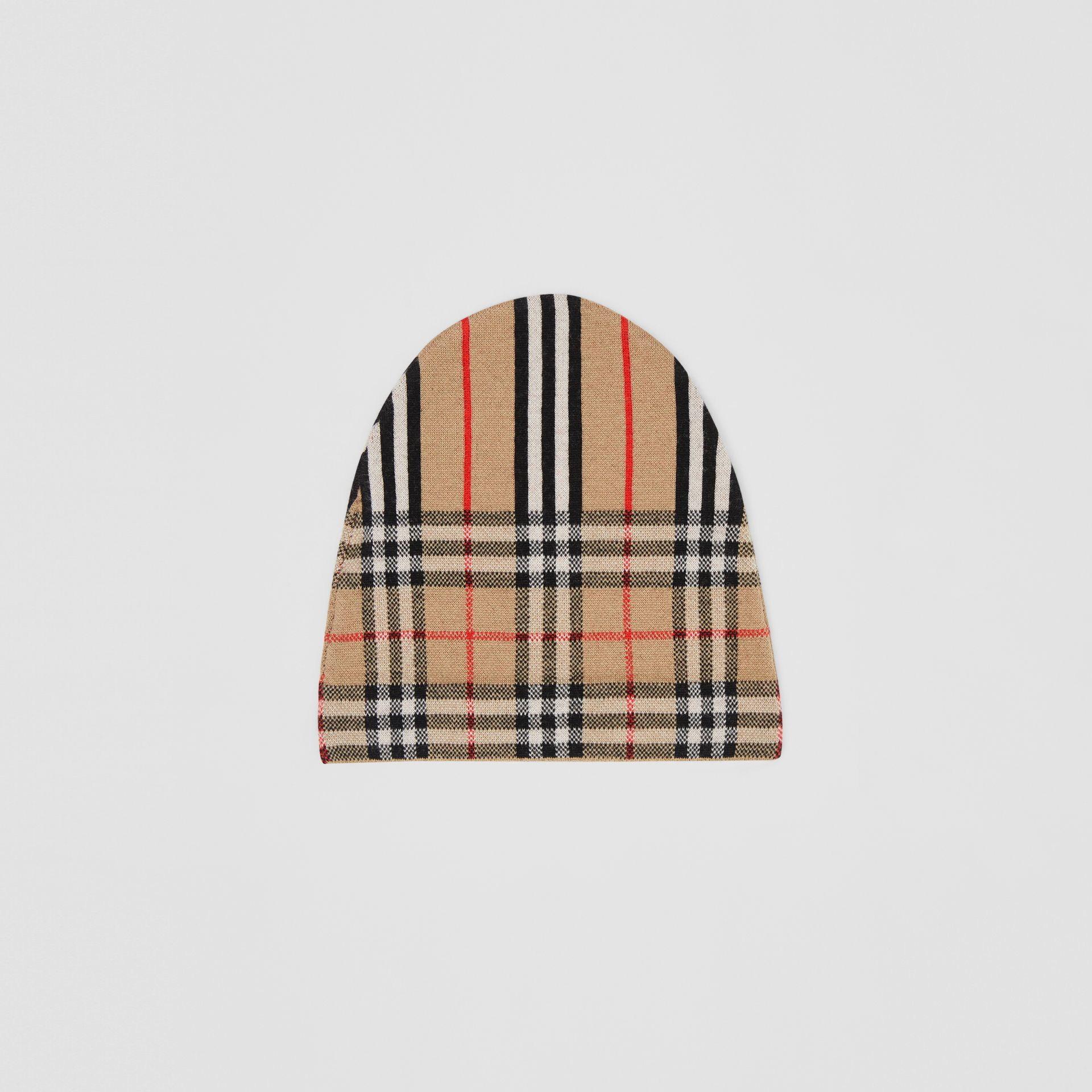 Vintage Check and Icon Stripe Wool Two-piece Gift Set in Archive Beige - Children | Burberry Hong Kong - gallery image 4