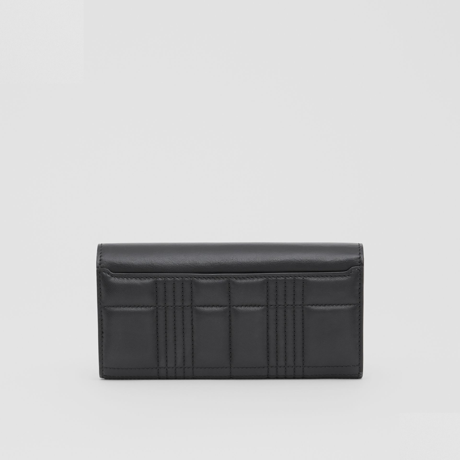 Monogram Motif Quilted Continental Wallet in Black - Women | Burberry United Kingdom - gallery image 5
