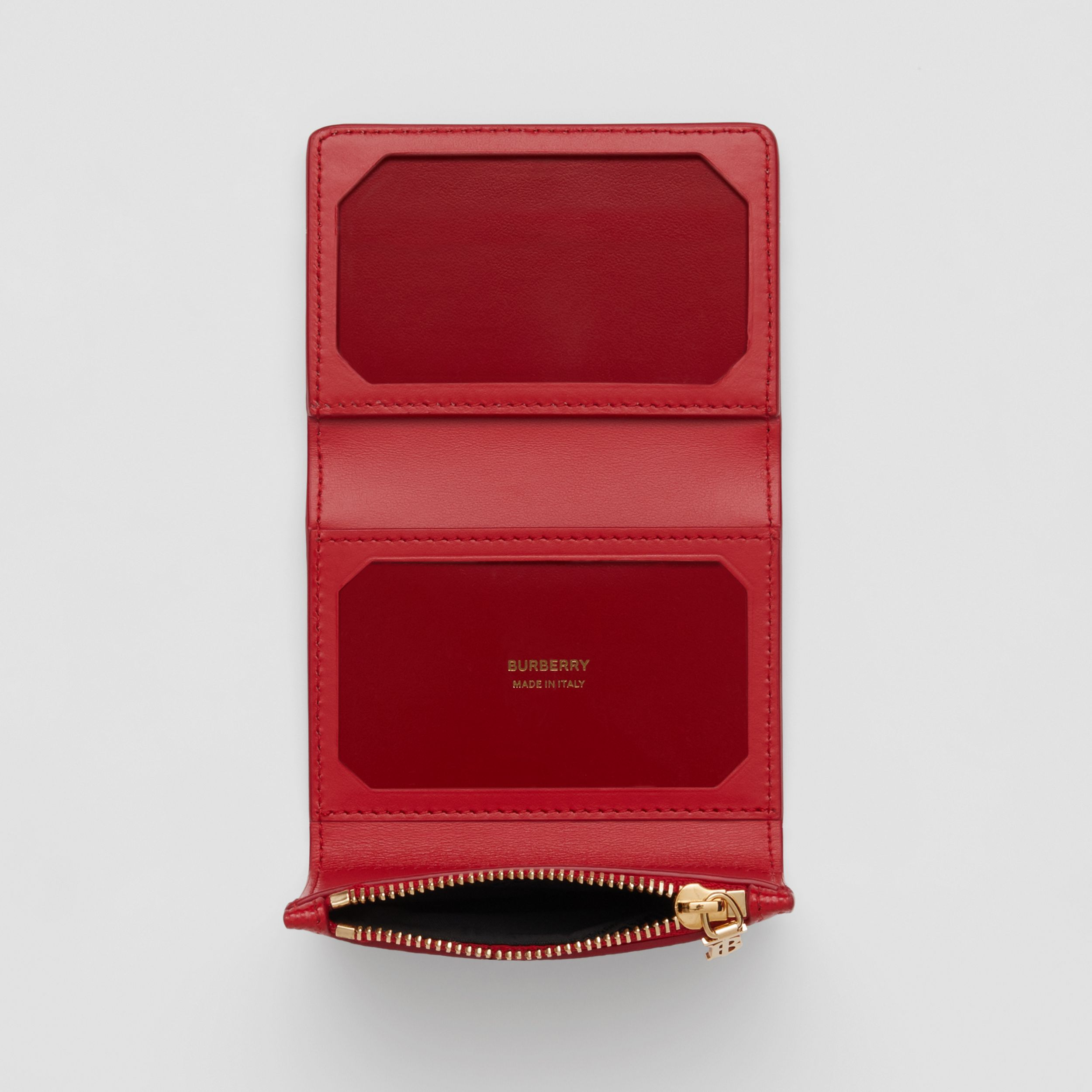 Grainy Leather ID Card Case in Bright Red - Women | Burberry - 3