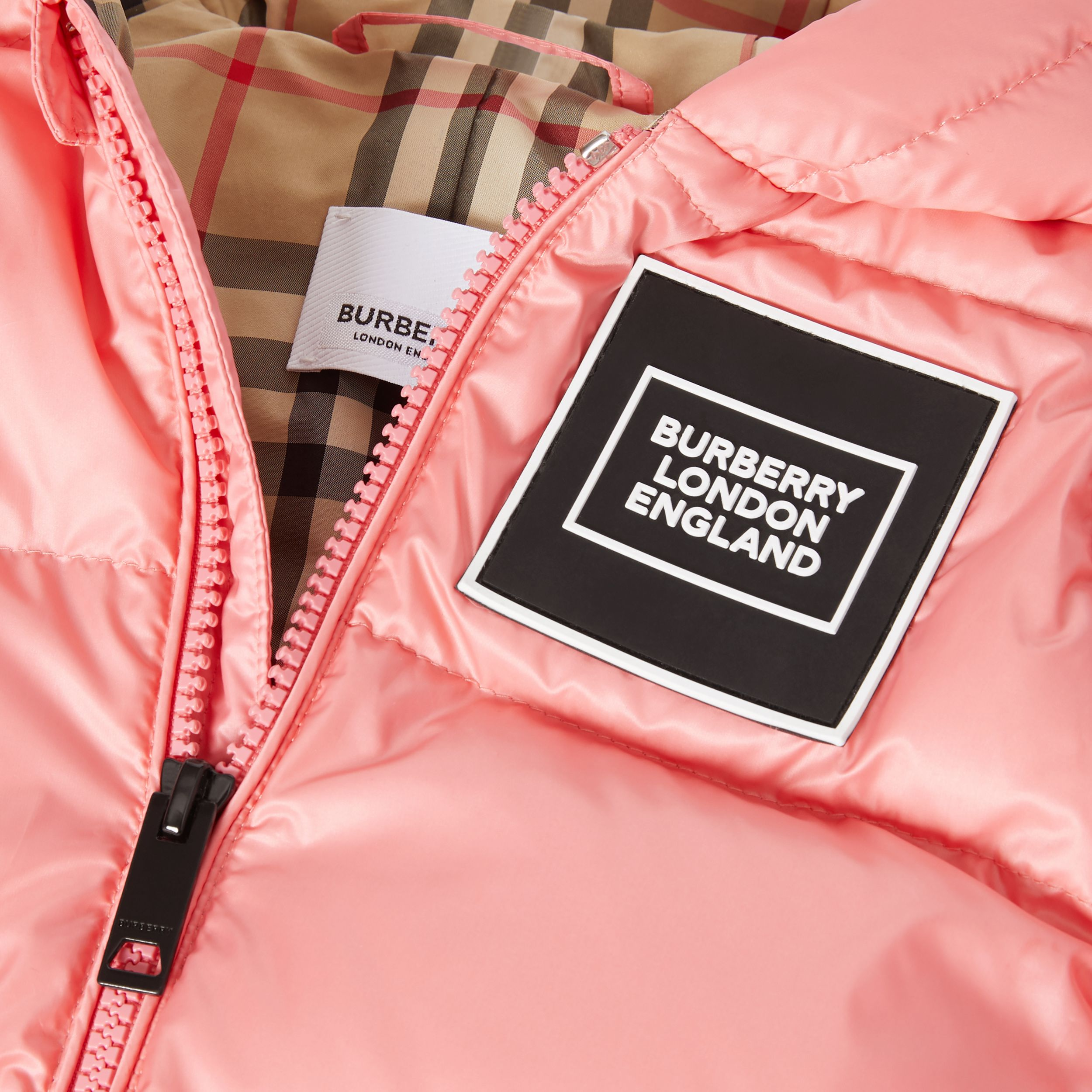 Logo Appliqué Puffer Suit in Peach - Children | Burberry United Kingdom - 2