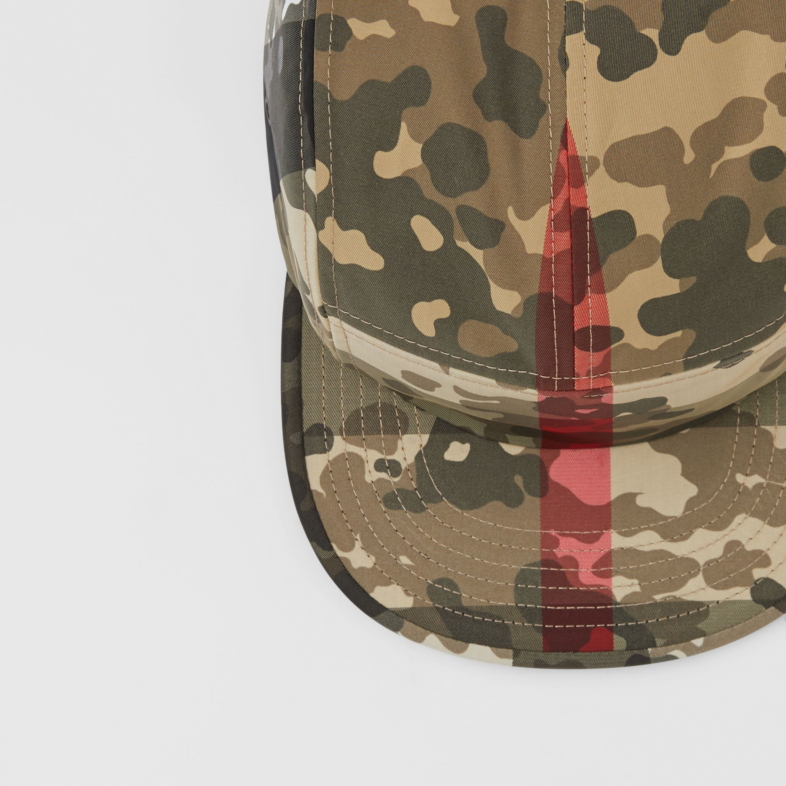 Camouflage Check Nylon Cap in Archive Beige | Burberry - 2