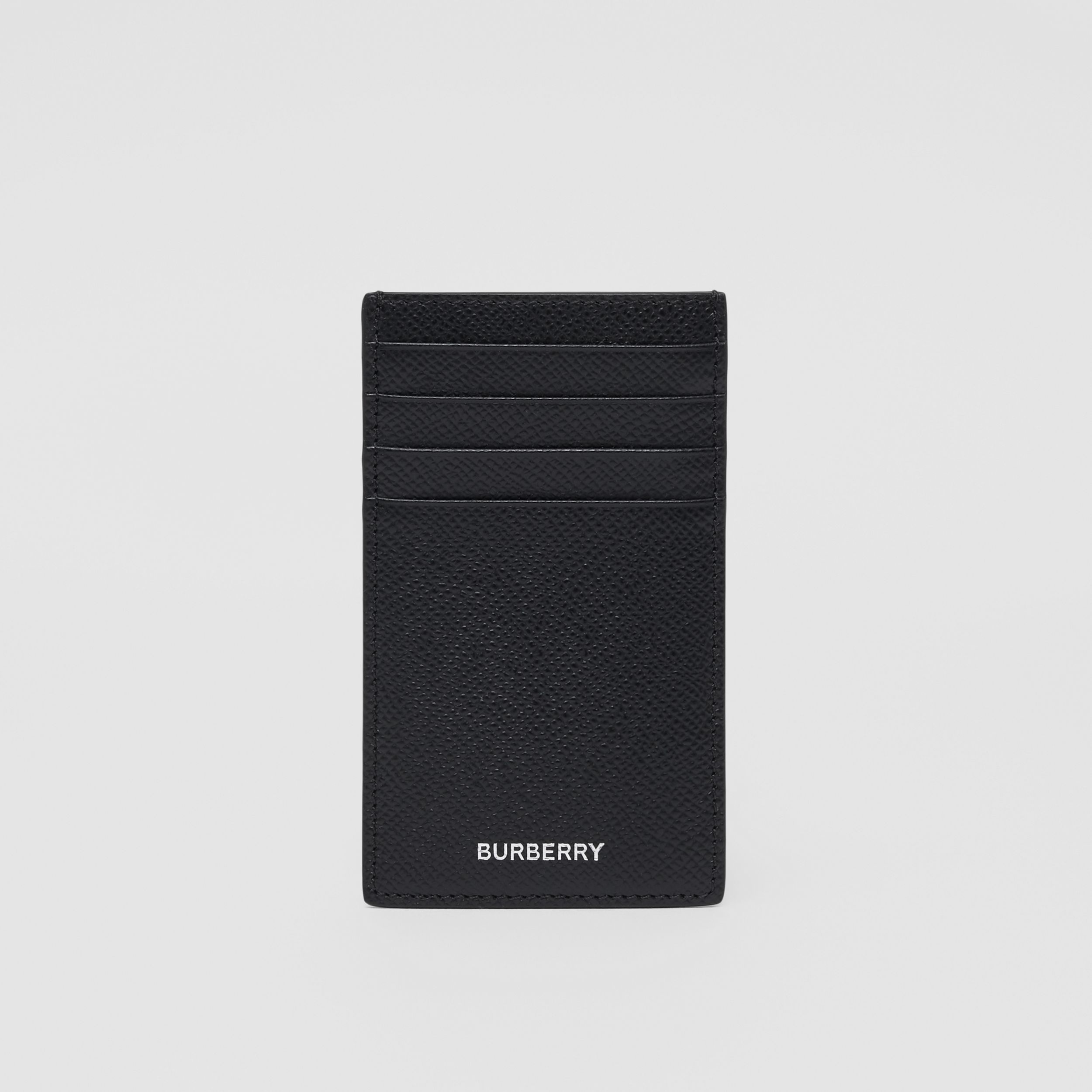 Grainy Leather Card Case in Black - Men | Burberry - 3