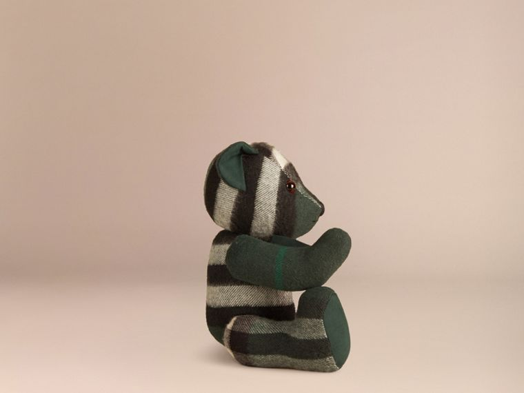 Thomas Bear in Check Cashmere in Dark Forest Green - cell image 2