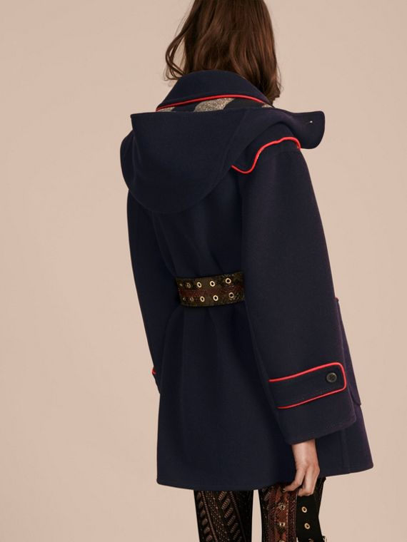 Navy Double-faced Wool Blend Duffle Coat - cell image 2