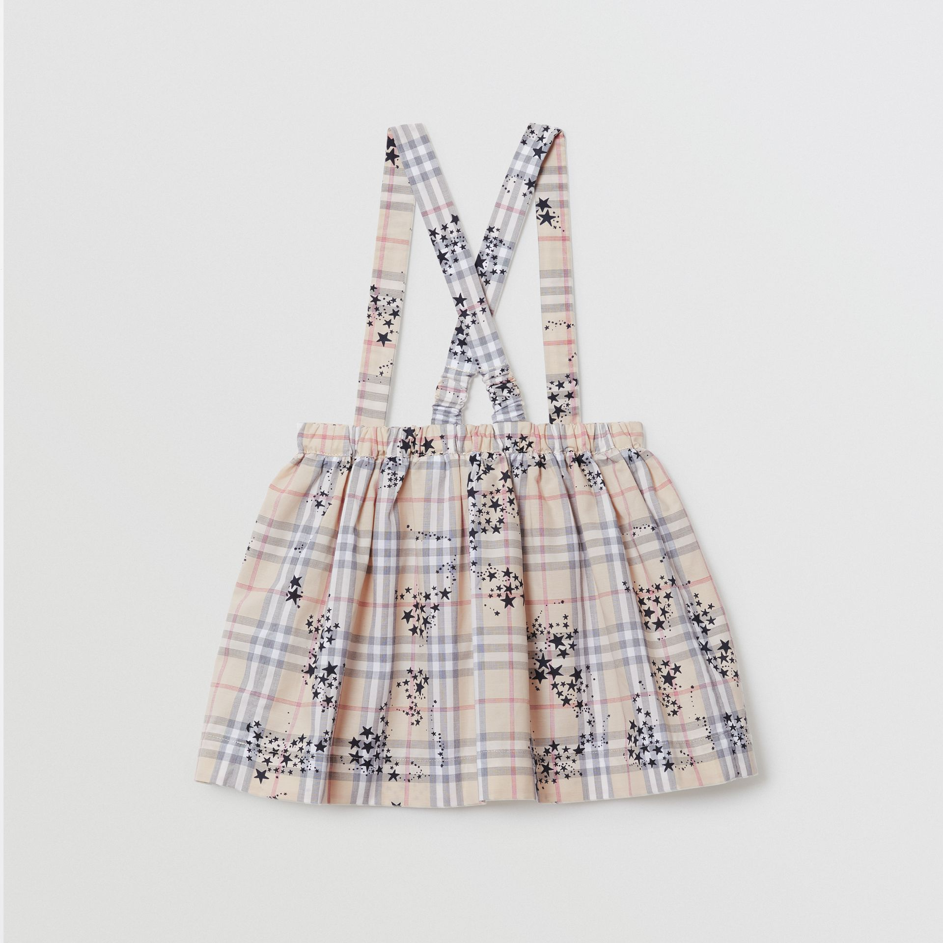 Star Print Check Cotton Two-piece Baby Gift Set in Bright Navy - Children | Burberry - gallery image 5