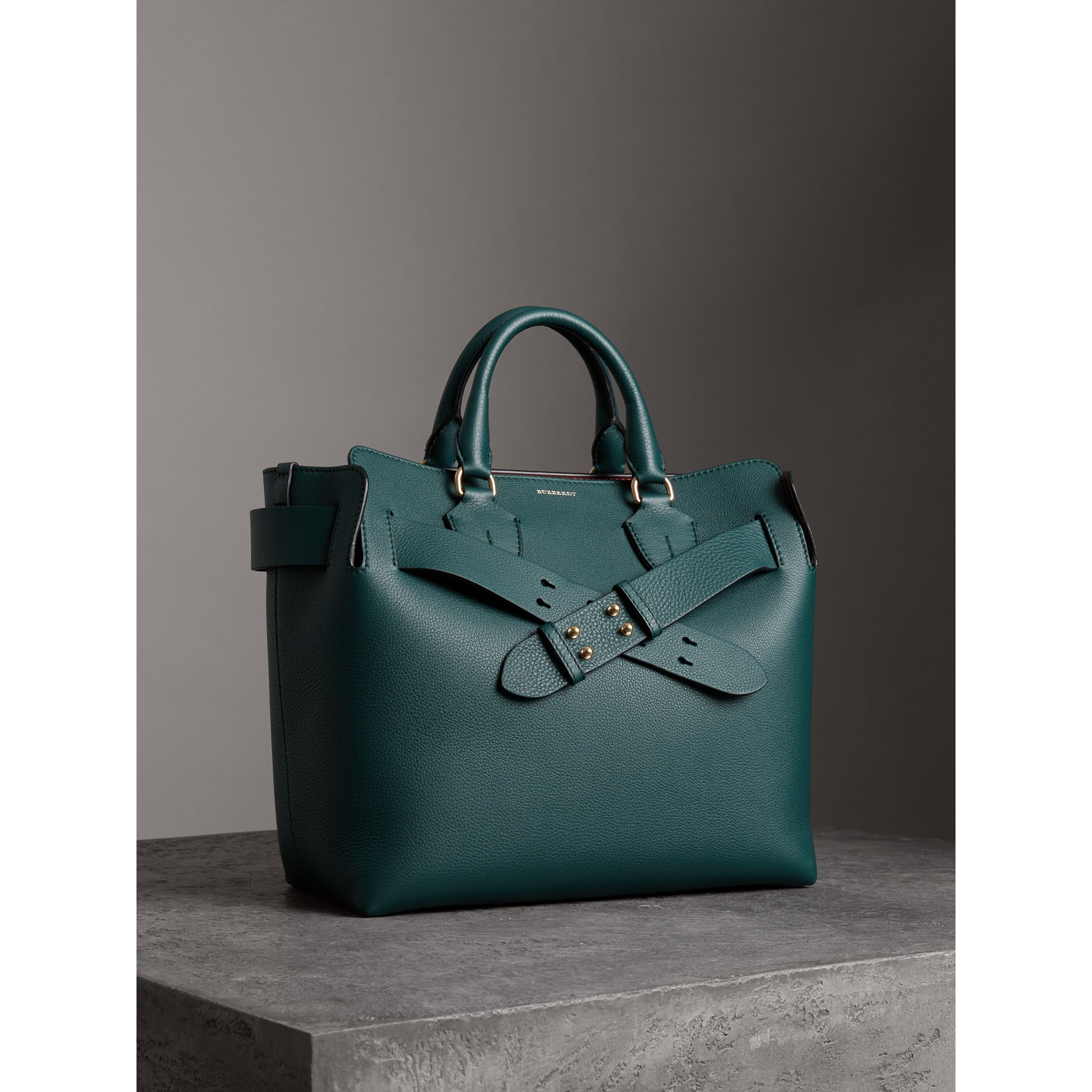 The Medium Leather Belt Bag in Dark Cyan - Women | Burberry - gallery image 3