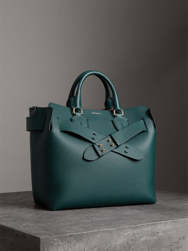 The Medium Leather Belt Bag in Dark Cyan - Women | Burberry - cell image 3