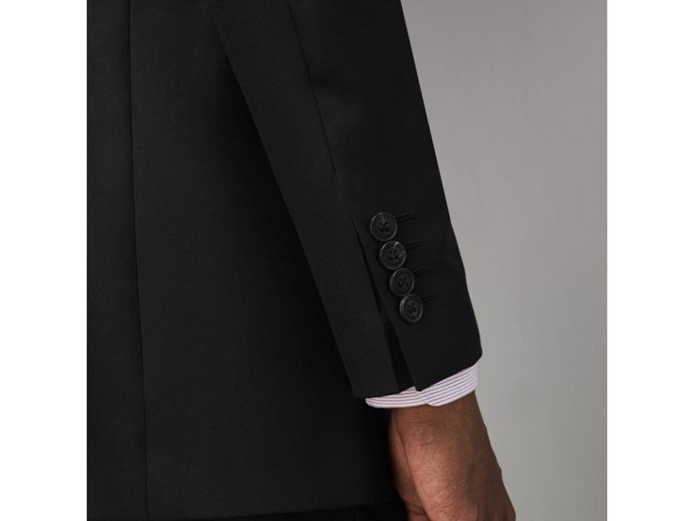 Modern Fit Wool Twill Suit in Black - Men | Burberry United States - cell image 4