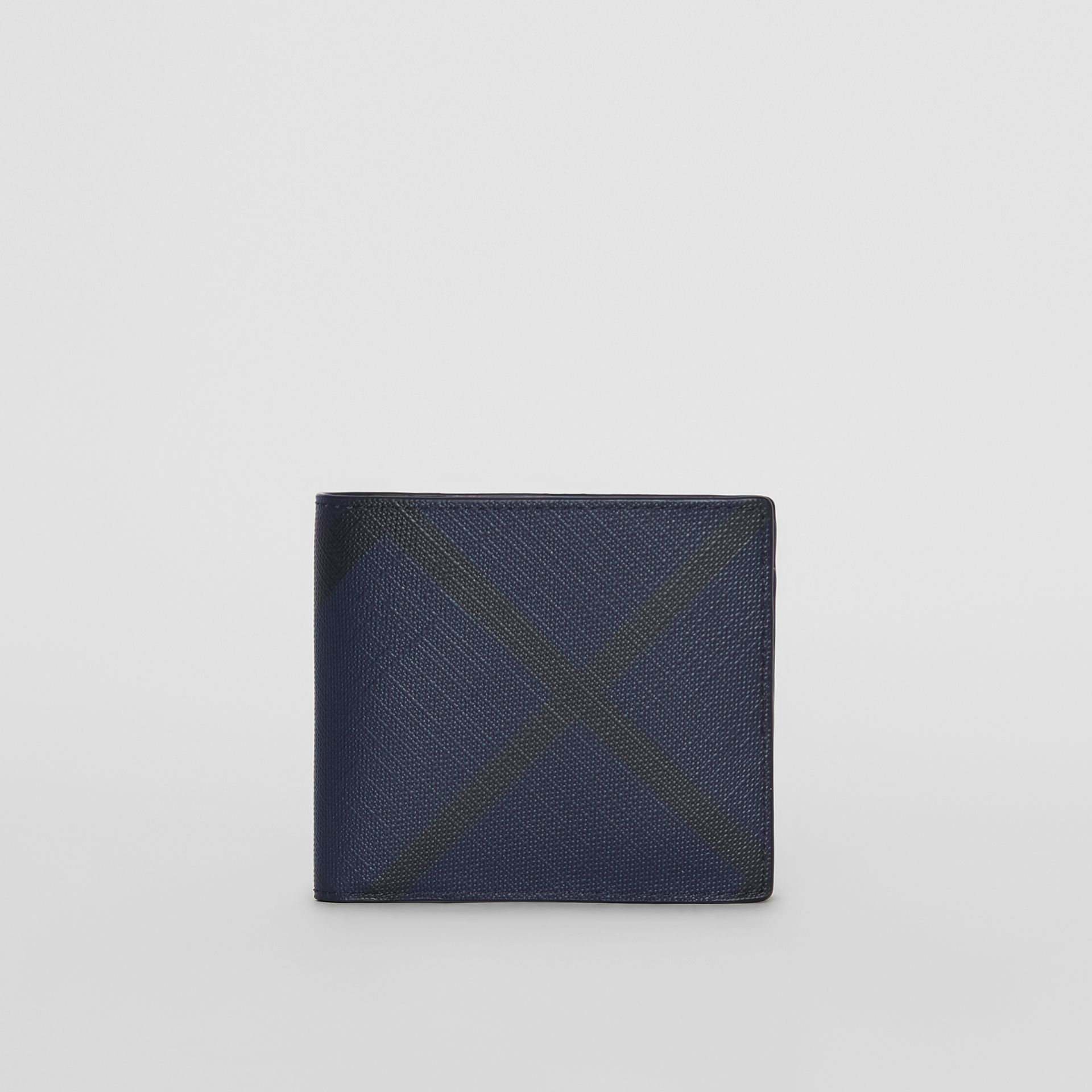 London Check ID Wallet in Navy/black - Men | Burberry Hong Kong - gallery image 2