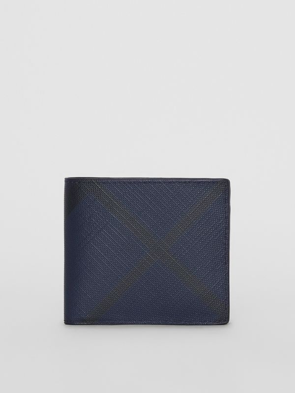 London Check ID Wallet in Navy/black - Men | Burberry United Kingdom - cell image 2
