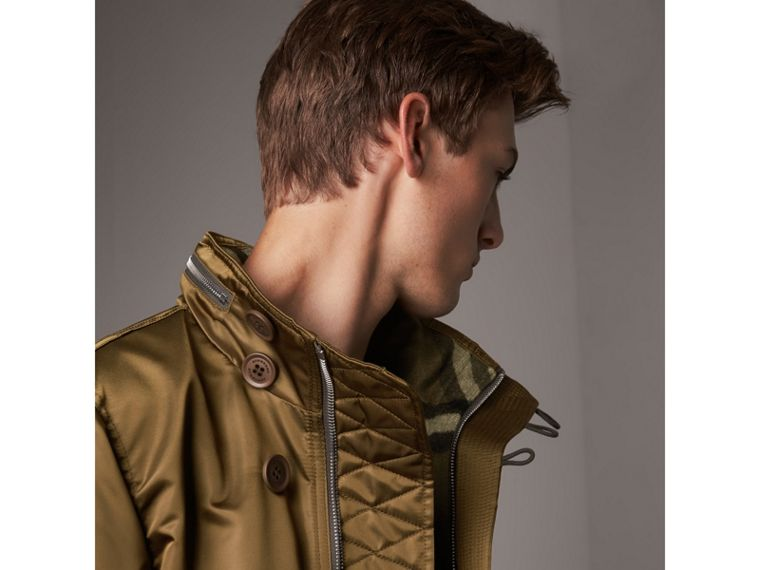 Nylon Bomber Jacket with Packaway Hood in Khaki Brown - Men | Burberry - cell image 1