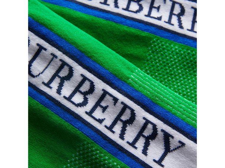 Meias curtas com logotipo (Verde Grama Intenso) | Burberry - cell image 1