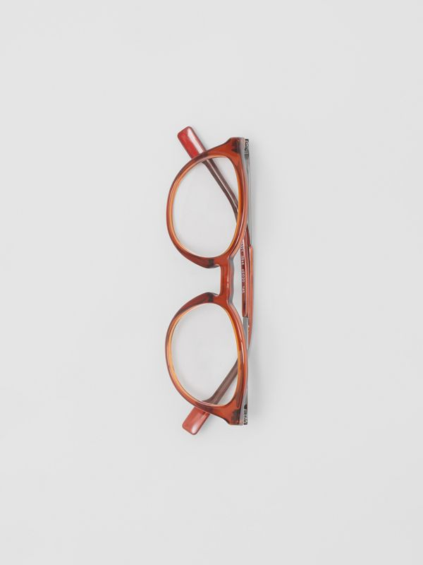 Round Optical Frames in Amber - Men | Burberry - cell image 2