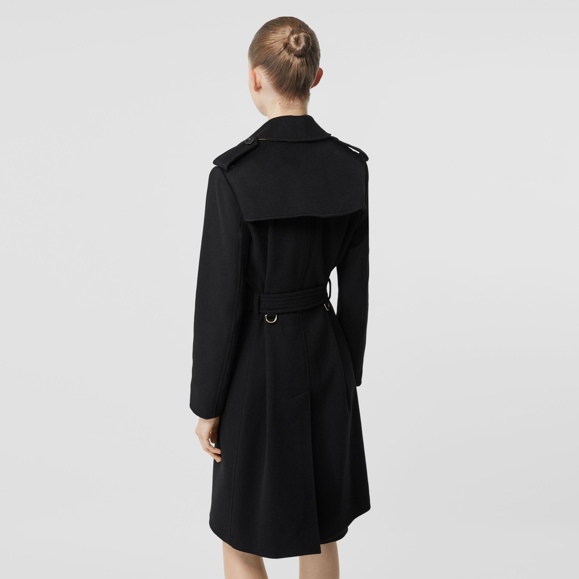 Cashmere Trench Coat in Black - Women | Burberry Australia - gallery image 2