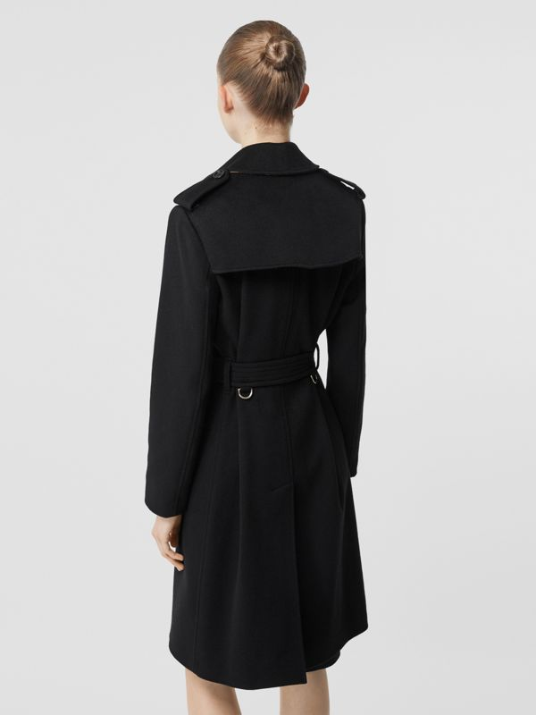 Cashmere Trench Coat in Black - Women | Burberry Canada - cell image 2