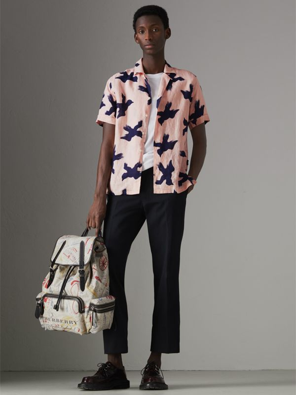 The Large Rucksack in London Print Canvas and Leather in Multicolour - Men | Burberry United Kingdom - cell image 2